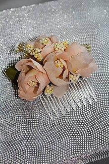 Ozdoby do vlasov - Kvetinový hrebienok do vlasov \