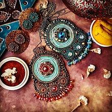 Sady šperkov - Kishanpole Bazar - vyšívaný set - 9032342_