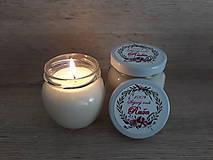 Svietidlá a sviečky - Sviečka zo 100% sójového vosku v skle - Ruža - 9032748_
