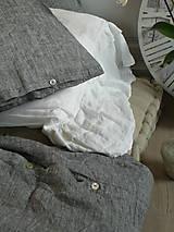 Úžitkový textil - NOVÉ ...lněné povlečení MELANGE NOIR - 9035014_