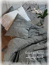 Úžitkový textil - NOVÉ ...lněné povlečení MELANGE NOIR - 9035017_
