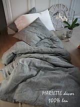 Úžitkový textil - NOVÉ ...lněné povlečení MELANGE NOIR - 9035018_