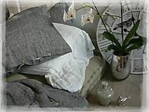 Úžitkový textil - NOVÉ ...lněné povlečení MELANGE NOIR - 9035019_