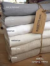 Úžitkový textil - NOVÉ ...lněné povlečení MELANGE NOIR - 9035021_