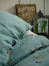 Úžitkový textil - NOVÉ ...lněné povlečení BLUE LAGOON - 9035040_