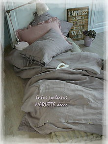 Úžitkový textil - NOVÉ ...lněné povlečení GRIS LAVANDE - 9034975_