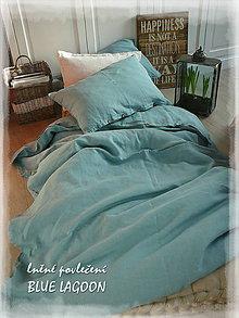 Úžitkový textil - NOVÉ ...lněné povlečení BLUE LAGOON - 9035038_