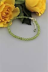 Náramky - Peridot - olivín náramok v striebre - 9032893_