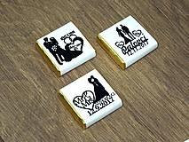 - Svadobné čokoládky Silueta amor - 9036591_