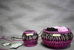 Košíky - Set dekoračních košíků 24×13/13×11 - 9033590_