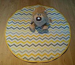 Textil - Okrúhla hracia detská podložka Sovy, 100cm - 9036373_