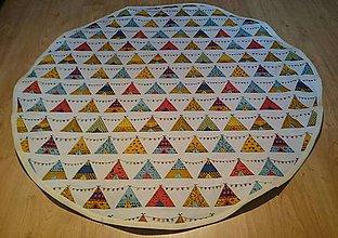 Textil - Okrúhla hracia detská podložka, 98 cm, Indiánska - 9036395_