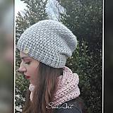 Čiapky - Háčkovaná čiapka, homeleska, pre ženu - 9035136_