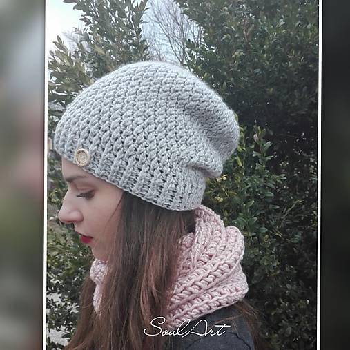 Háčkovaná čiapka, homeleska, pre ženu