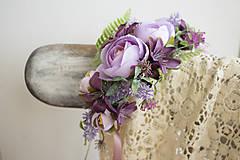 Ozdoby do vlasov - Kvetinový polvenček ,,violet,, - 9036097_