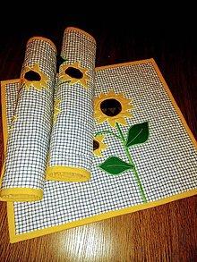 Úžitkový textil - Slnečnicové prestieranie na stôl - 9035775_