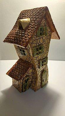 Svietidlá a sviečky - Čarovný domček z keramiky - 9036614_