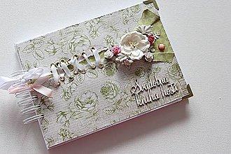 Papiernictvo - Kniha hostí - romanticky v zelenom - 9034044_