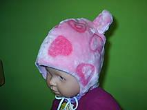 Detské čiapky - čiapočka s uškami - 9032551_