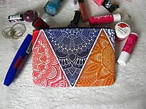 Taštičky - Taštička na mobil - mandala v trojúhleníku - sleva z 5,5eur - 9033524_