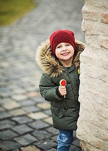 Detské čiapky - Hipsterská pletená čiapka - 9034112_