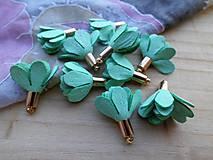 - Textilné kvety - pár (viac druhov) (Zelené) - 9035602_