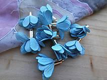 - Textilné kvety - pár (viac druhov) (Modré) - 9035608_