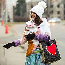 Nákupné tašky - Ide sa na nákup v retrovici... srdce - 9036321_
