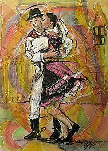 Obrazy - Tanec je radosť- Šarišan - 9034867_