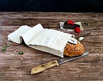 Úžitkový textil - Ľanové vrecúško na chlieb - 9033699_