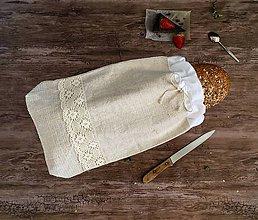 Úžitkový textil - Podšité vrecúško na chlebík - 9034056_