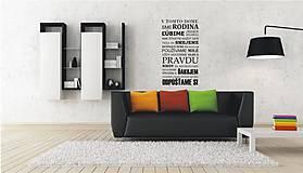 Nálepky na stenu - Pravidlá rodiny - šírka 85 cm - Slovensky