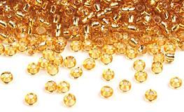 - Rokajl 8/0 - 2,9 mm, 50g - zlaté so strieborným prieťahom - 9035948_