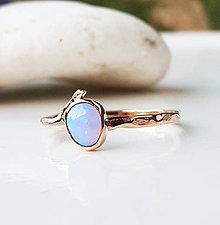 Prstene - Rose & Dubník opal twig - 9040752_