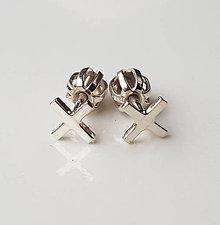Náušnice - X earrings (strieborné) - 9040757_