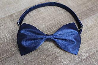 Doplnky - Motýlik námornícky modrý - nastaviteľný - 9037890_
