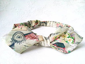 Ozdoby do vlasov - Pin Up headband on elastic (vintage) - 9037552_