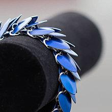 Náramky - Odlehčený drak - náramok (Modrý) - 9040067_