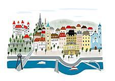 """- """"Bratislava"""" ilustrácie / reprodukcia vlastného obrazu - 9041066_"""