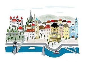 """Obrazy - """"Bratislava"""" ilustrácie / reprodukcia vlastného obrazu - 9041066_"""