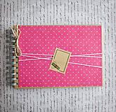 Papiernictvo - Bodkovaný scrapbook album (kniha hostí) - 9040802_