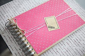 Papiernictvo - Bodkovaný scrapbook album (kniha hostí) - 9040808_