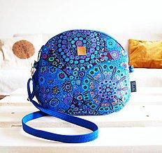 Kabelky - Stredná kabelka - hippie v modrej - 9040972_