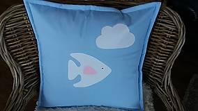 Úžitkový textil - Obliečka na vankúš... ryba - 9038675_