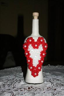 Nádoby - Fľaša - srdce - 9041362_