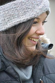 Ozdoby do vlasov - zasněná v šedé - 9037011_