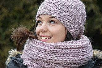 Čiapky - růžova wool - 9037535_