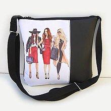 Kabelky - Čierna kabelka Crossbody - 9037055_