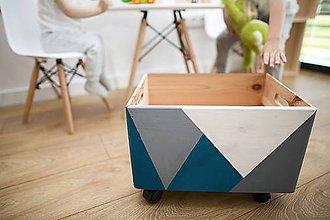 Nábytok - Úložný box (nielen) na hračky - 9039297_