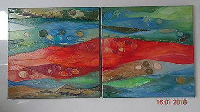 Obrazy - Abstrakt 6 - Farebná láva, dvojobraz - 9041325_